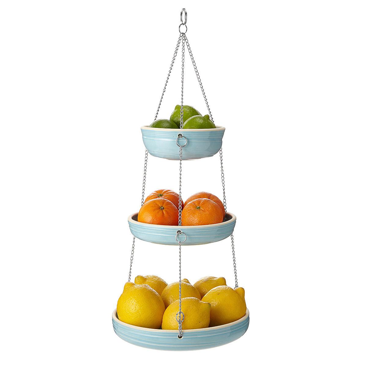 stoneware 3 tiered hanging basket