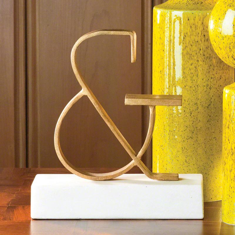 gold ampersand objet d'art
